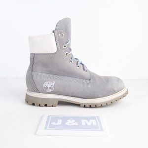 Timberland waterproof grey/blue suede boots size 5